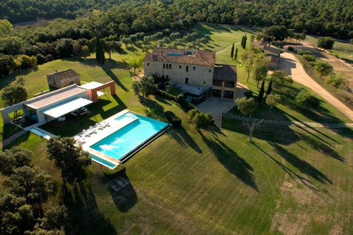 stylish private estate for rent Girona Spain