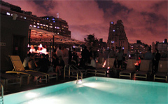 Hip members club hotel in Meatpacking district of New York City