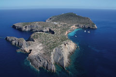 exclusive private island close to Ibiza for holidays and photoshoots
