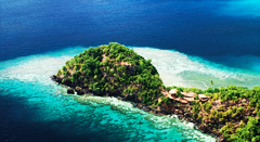 Exotic private island paradise in Fiji Islands