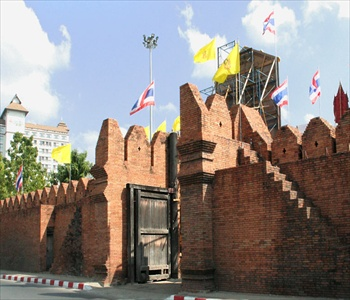 Thailand Chiang Mai Old City wall