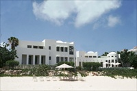 Blue Villa Anguilla view from beach