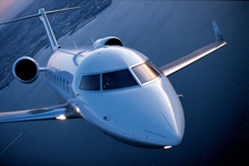 business travel in a private jet
