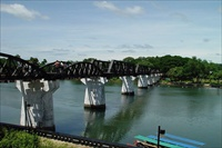 Thailand, bridge over the river Kwai