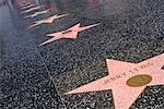 hollywood stars on pavement