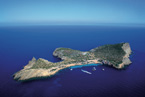 private island near ibiza with luxury accommodation